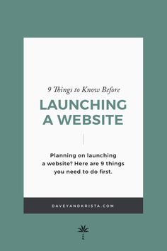 9 things to know before launching a website Planning on launching a website? Here are some website design tips and content marketing strategies to ensure your launch is a success. Business Branding, Business Design, Creative Business, Business Tips, Online Business, Business Marketing, Strategy Business, Business Education, Corporate Branding