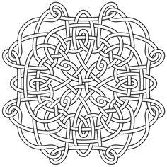 Embroidery pattern celtic knot mandala