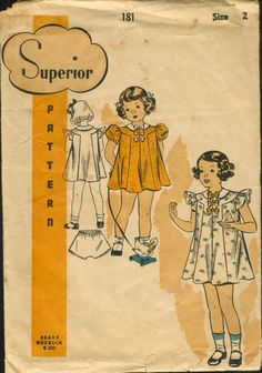Love the lines on this vintage pattern