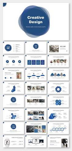 Blue & Simple Business Report PowerPoint Template – Original and high quality PowerPoint Templates d - Web-Design Powerpoint Tips, Powerpoint Design Templates, Presentation Layout, Business Presentation, Business Web Design, Web Mockup, No Photoshop, Portfolio, Victor Hugo