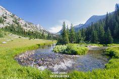 Eagle Cap Wilderness, Medical Springs, Wallowa Mountains, Oregon Stock Photo