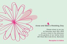 Flower Heart - Wedding Invitation from Crush Paperie (www.crushpaperie.com)