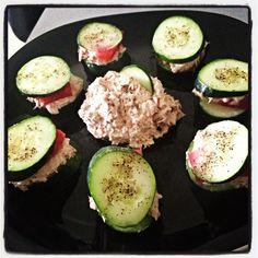Tuna Cucumber Snacks