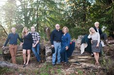 adult family photos  posing for adults  adult kids   Casual family portrait by Seattle photographer Sally Honeycutt