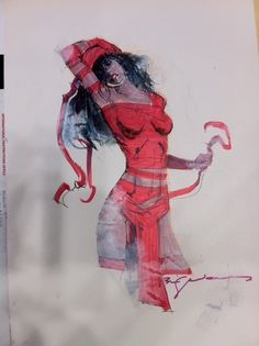 Elektra commission by the Master Bill Sienkiewicz Comic Art