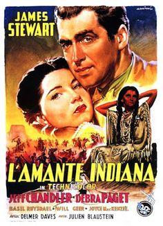 James Stewart and Debra Paget in Broken Arrow Indiana, Broken Arrow Movie, Westerns, Jeff Chandler, Cinema Posters, Movie Posters, Italian Posters, Actor James, Film Releases