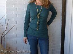 Collar largo de jade amarillo aventurina.... por MardePiedras Nuevo en Etsy