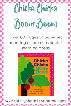 Chicka Chicka Boom Boom Literacy Connection Pack | This literacy connection pack offers over 60 pages of activities for the book Chicka Chicka Boom Boom. Activities in each area of development include literacy, math, cooking with kids, fine motor skills, gross motor skills, preschool science, writing, preschool art, and much more. Click through to get your copy of this literacy connection pack today.