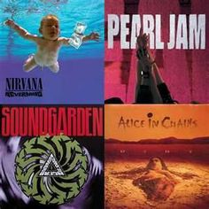 Rock Music - Yea baby! m/ Soundgarden and Alice in Chains!! how can u not love them all tt says yesssss Leia agora os nossos artigos sobre música grunge em http://mundodemusicas.com/category/grunge/