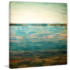 'Ormond Beach' by Parvez Taj Painting Print on Wrapped Canvas