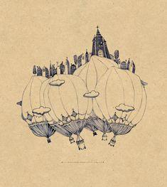 Balloon small city by ~MrSithZam on deviantART