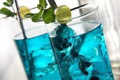 """Got a crush? Mix up this """"Blue Crush"""" for a cocktail they'll be unable to resist!   2 Parts Three Olives Loopy Vodka   1 Part Blue Curacao   1 part Lemon Lime Soda   Splash of Sweet and Sour   Pour over ice and ENJOY!"""