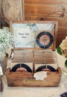 Couples Favorite playlist as a favor for guests!