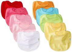 Amazon.com : Green Sprouts Waterproof Absorbent Terry Bibs, Boys, 10 Count : Baby Bibs : Baby