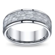 Alamea Hawaii Titanium and Tulip Wood Wedding Band