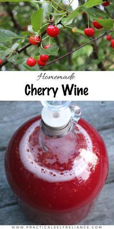 Sour Cherry Jam, Cherry Tart, Sour Cherry Wine Recipe, Frozen Cherries, Sweet Cherries, Homemade Wine Recipes, Homemade Alcohol, Cherry Jam Recipes, Peach Wine