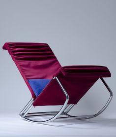 Metal rocking armchair on Behance