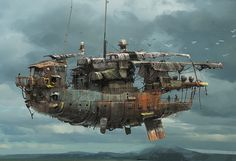 Air ship | Sky Barge Picture (2d, fantasy, airship, vehicle)