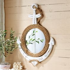 Two's Company Anchors Away Wall Mirror