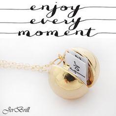 Custom Handmade Secret Message Ball Locket Couple Pendant-Necklace Friendship/Best Friend/ Women/ Men by JerBrill on Etsy
