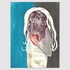 Believe in yourself - Björg Thorhallsdottir Believe In You, Illustration Art, Cover, Universe, Kunst, Pictures