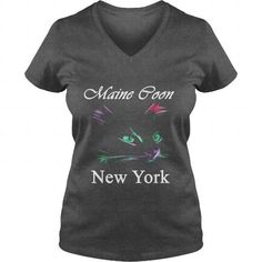 Maine Coon Cat New York V-Necks T-Shirts, Hoodies ==►► Click Order This Shirt NOW!