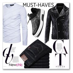 """""""Newchic"""" by kiveric-damira ❤ liked on Polyvore featuring men's fashion and menswear"""