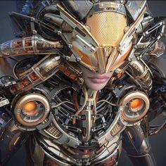 Hawk suit, Liudmila Kirdiashkina on ArtStation at… Arte Ninja, Arte Robot, Cyberpunk Character, Cyberpunk Art, Armadura Sci Fi, Science Fiction, Female Cyborg, Cyborg Girl, Les Reptiles