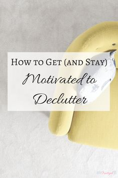 Decluttering doesn't have to be an overwhelming task. There are a few simple ways you can get, and stay, motivated to declutter. Use these tips to keep your momentum and motivation to declutter going and achieve your decluttering goals. Click through to the article for motivation to keep (or start) going!