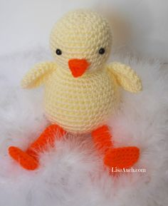 Crochet Duck chick Free Pattern An Amigurumi stuffed toy chick Perfect for Easter