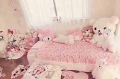 too much kawaii! Cute Room Ideas, Cute Room Decor, Girl Decor, Pastel Room, Pink Room, Dream Rooms, Dream Bedroom, Room Ideas Bedroom, Bedroom Decor