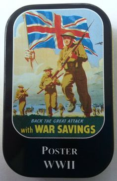 Back the great attack with war savings Poster WII