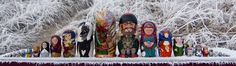 Russian Matryoshka Dolls painted by 17 Scottish Artists (image only)