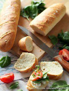 dlugie-bulki-pszenne Hot Dog Buns, Hot Dogs, Bread Rolls, Food And Drink, Pizza, Breads, Recipes, Rolls, Buns