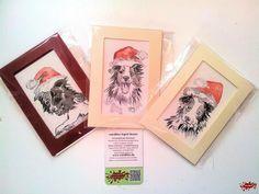 Jetzt auch Bordercollies: handgemalte Weihnachtskarten (auch nach Foto) Ein Designerstückchen von wandklex Ingrid Heuser im kleinen Klexshop auf DaWanda unter http://de.dawanda.com/shop/wandklex einzeln handgemalte Karten (auch als Weihnachtskarten mit oder ohne Weihnachtsmützen ;-) ) Die Quickies werden locker aquarelliert auf ca. 9x13cm Künstleraquarellpapier - jede ein Unikat, alle Rassen (Hunde, Katzen etc. und natürlich auch Menschen) möglich, auch Kleinserien möglich.