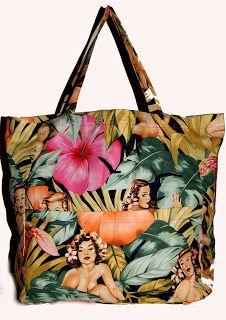 pinup jungle beach bag! BaRRaCuDa SSHoP Pinup, Gym Bag, Beach, Stuff To Buy, The Beach, Pin Up, Beaches, Wall Drawing