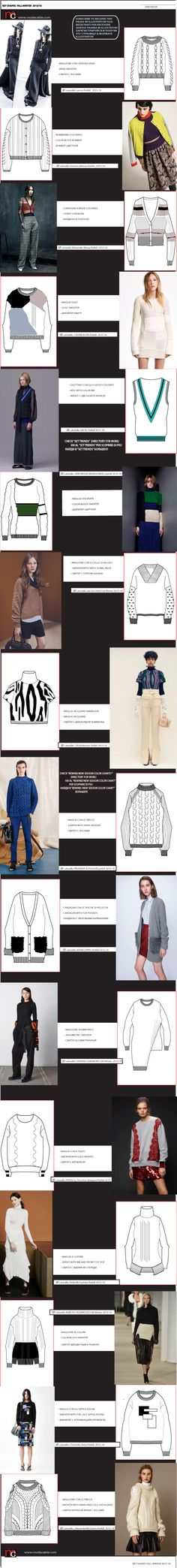 Knitwear key shapes FW2015/16 only at www.modacable.com!!! Join us and get a free access to the 2015-16 folder with all the colors, flats, mood boards!!!