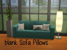 Sims 4 CC's - The Best: Blank Sofa Pillows by ChiLLis Sims