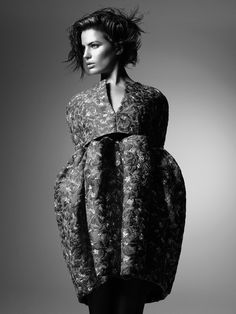Sculptural Fashion - floral dress with dramatic proportions // Balenciaga by Nicolas Ghesquière