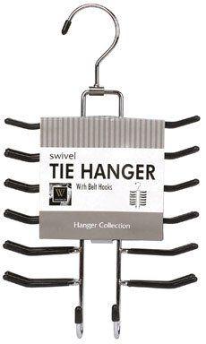 Whitmor 6021-187 Ebony Chrome Swivel Tie Hanger with Belt Loops