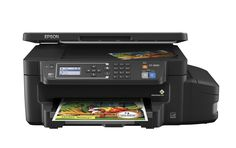 Epson ET-3600 EcoTank Wireless Color All-in-One Supertank Printer with Scanner, Copier & Ethernet. Cartridge-free printing - comes with up to 2 years of ink in the box (1). Includes enough ink to print up to 11,000 pages black/8,500 color (2) - equivalent to about 50 ink cartridge sets (3). Save up to 80 percent on ink with low-cost replacement bottles (4) - plus easy-to-fill, supersized ink tanks. Save up to 50 percent on paper - auto 2-sided printing. Load paper less often - 150-sheet...