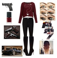 Fast and furious 7 by melanie0601 on Polyvore featuring AG Adriano Goldschmied, Christian Louboutin, Meadowlark and NARS Cosmetics