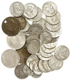 Lot 70: US Silver Coin Assortment; $25 face value US 90% silver and $4.50 face value US 40% silver; together with a 1944 India one rupee