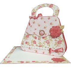 Printable Vintage Rose Handbag Card and Envelope Finished Card Making Kits, Card Making Tutorials, Making Ideas, Video Tutorials, Printable Cards, Printable Vintage, Printables, Printable Planner, Free Printable