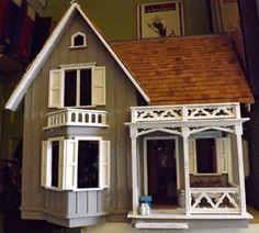 Cutting and Contriving: How Did I End Up With the Westville Dollhouse? Barbie Furniture, Dollhouse Furniture, Miniature Houses, Miniature Dolls, Dollhouse Dolls, Dollhouse Miniatures, Vampire House, Mini Doll House, Contemporary Cottage