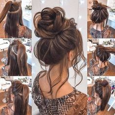 Spring Hairstyles, Girl Hairstyles, Braided Hairstyles, 2 Buns Hairstyle, Updo, Medium Hair Styles, Curly Hair Styles, Hair Places, Hair Videos