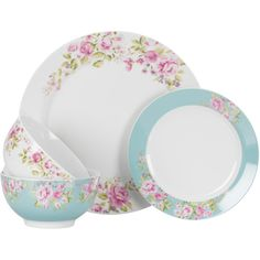 Bronte Charm 12 Piece Dinnerware Set ($25) ❤ liked on Polyvore featuring home, kitchen & dining and dinnerware