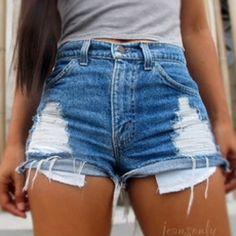 F21 high waisted distressed shorts F21 high waisted distressed shorts size 24- 0-1 in regular sizes Forever 21 Other