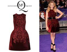 Chloe Moretz' McQ Alexander McQueen Broderie Anglaise Velvet Bell Dress