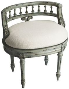Beautiful Upholstered Dressing Table Stool